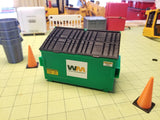 2-yard Green Trash Dumpster at 1:14 Scale