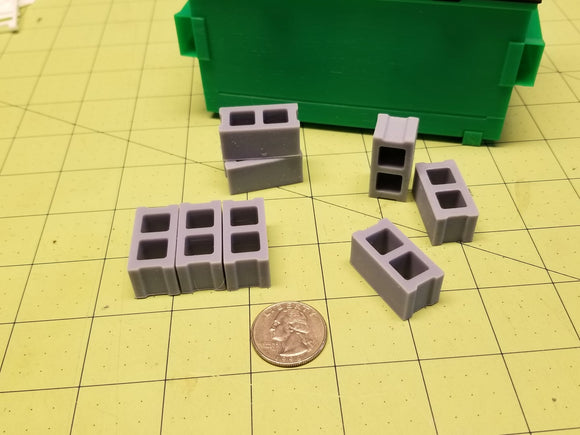 Miniature CMU Blocks (Set of 10)