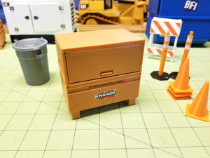 Miniature Jobsite Construction Toolboxes at 1:14 Scale