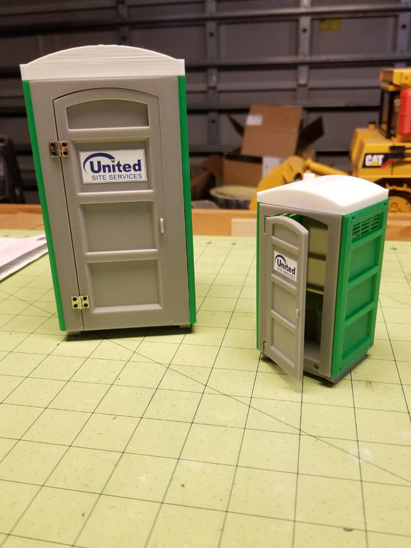 Miniature Portable Toilet at 1:24 Scale