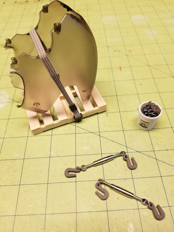 Custom Miniature Ratchet Binder for 1/14th Scale RC Construction
