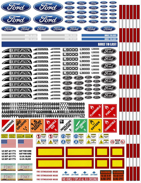 New Kenworth Semi Tractor Truck Decals for 1:12/1:14/16 Scale