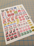 RC Racing-01 Decal Set for 1:8/1:10/1:12 Scale Vehicles