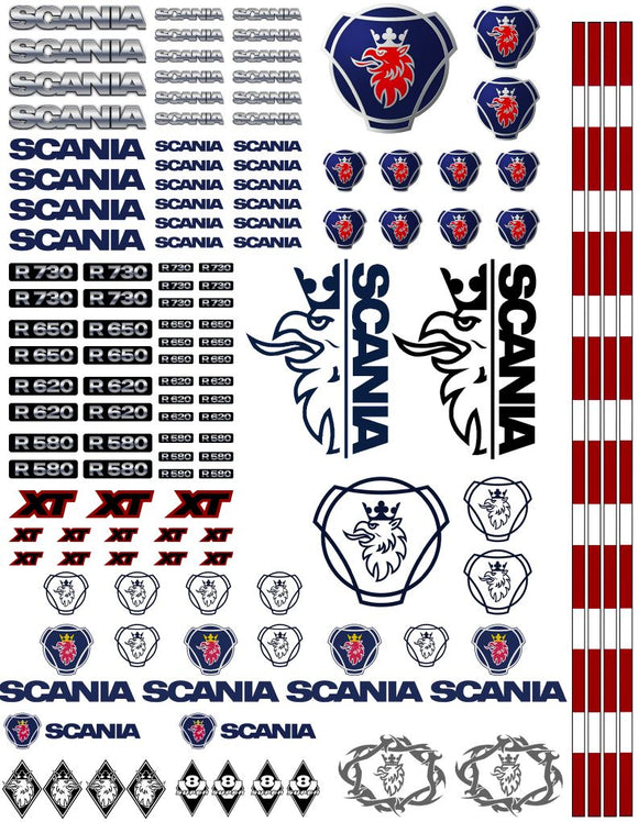 New Scania Semi Tractor Truck Decals for 1:12/1:14/16 Scale