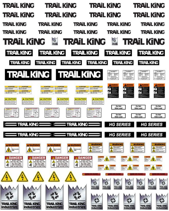 New Trail King Trailer Decals for 1:12/1:14/16 Scale