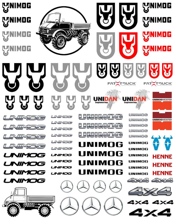 New UNIMOG Star Semi Tractor Truck Decals for 1:12/1:14/16 Scale