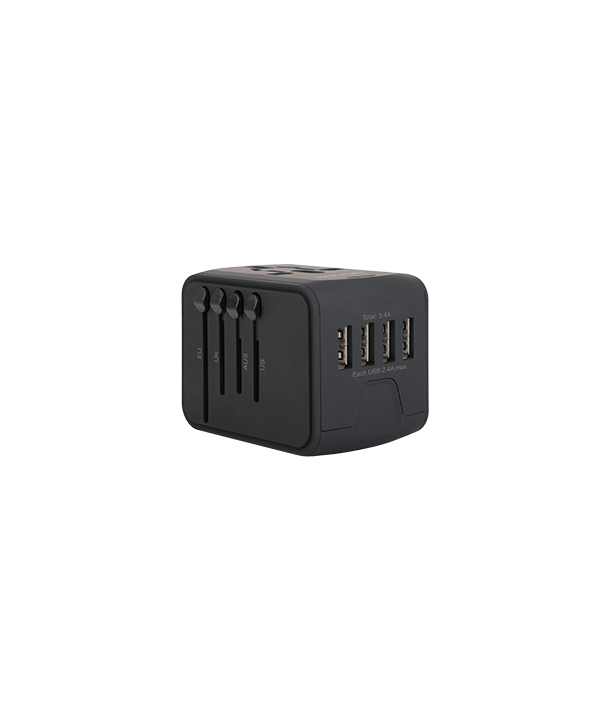 CH390 - Astrum Universal Travel Adapter 2 USB US UK EU AUS