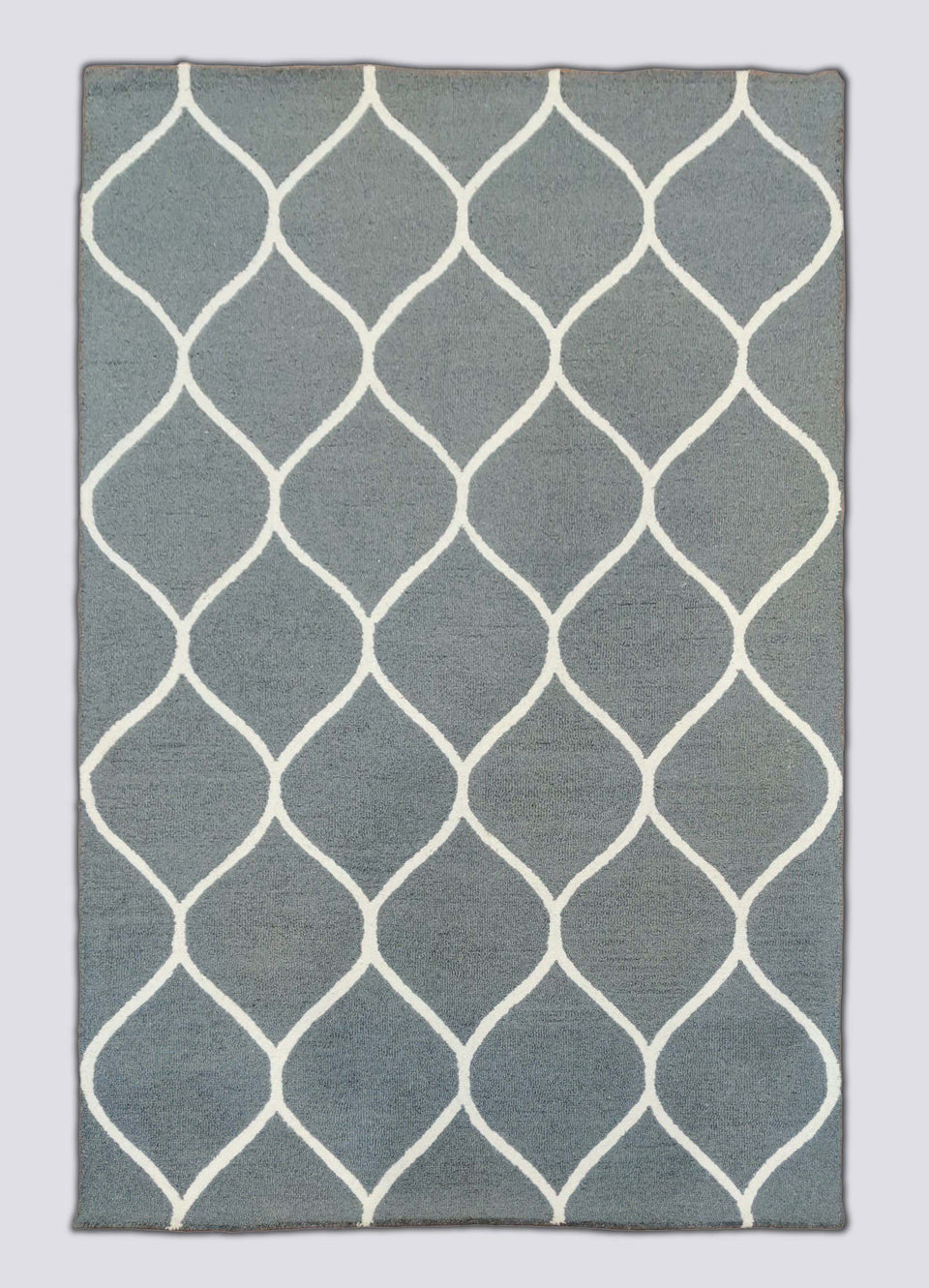 Misty Grey Hand Tufted Wool Carpet 8 x 5
