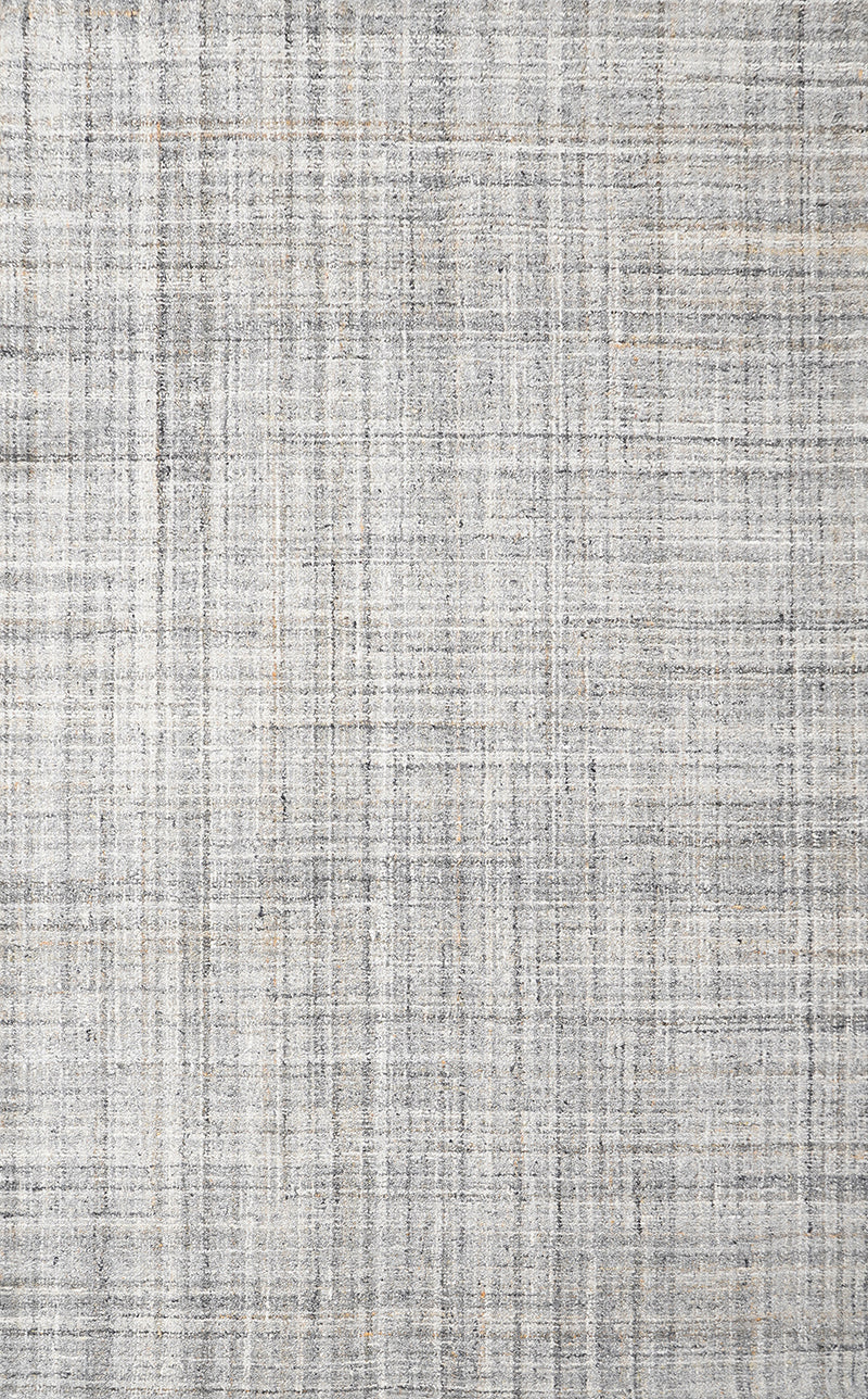 Zig-Zag M.Grey Natural Wool Hand Tufted Rug