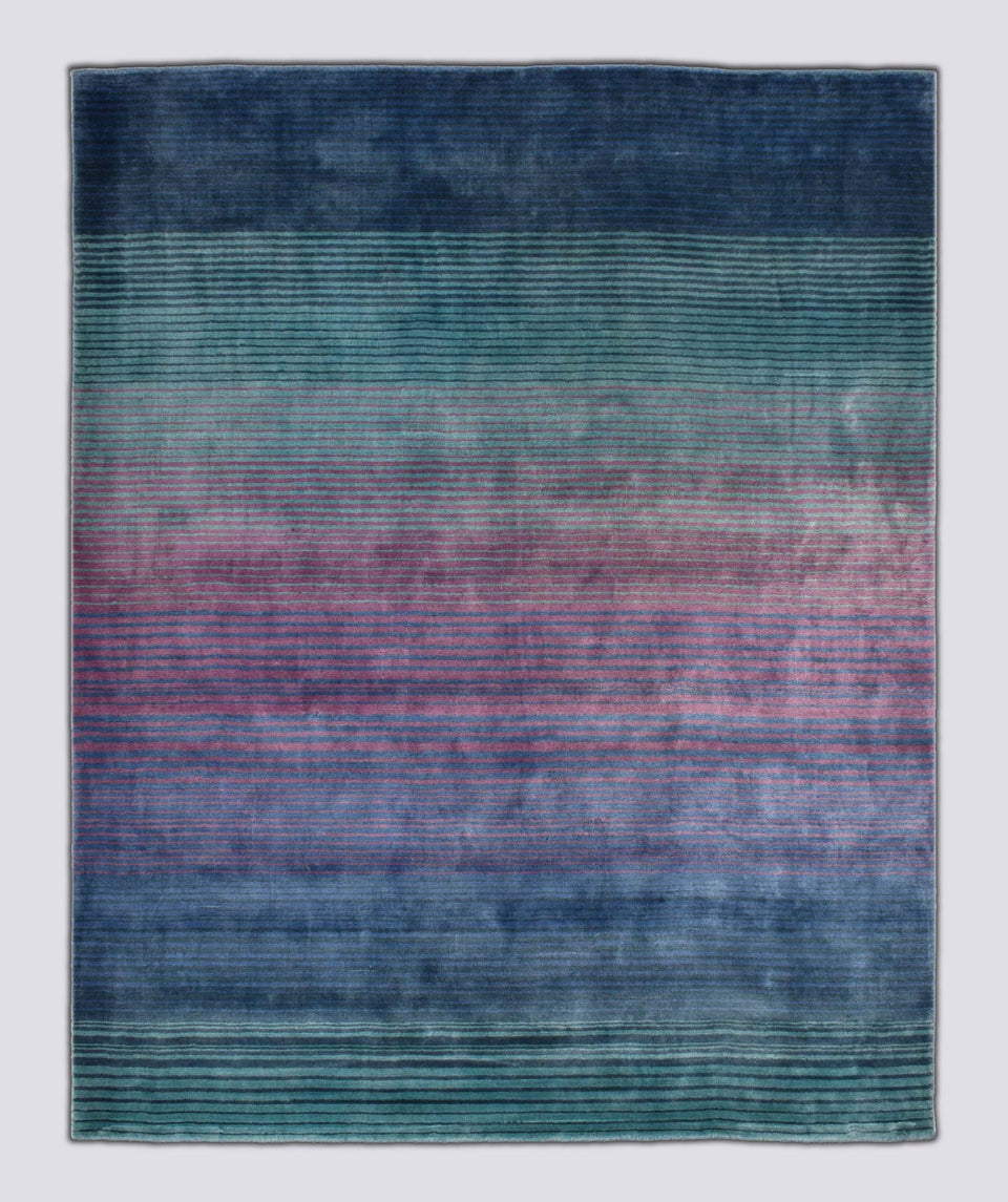 Rainbow Viscose Handloom Carpet 6.5 x 5