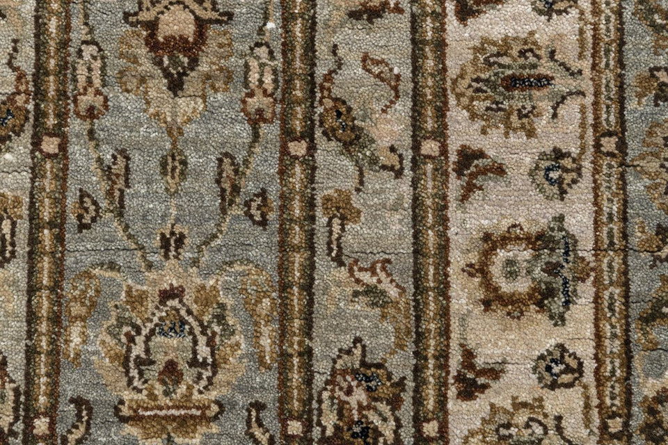 Luxury - Vienne Sea Blue Ivory New Zealand Wool Hand Knotted Premium Carpet
