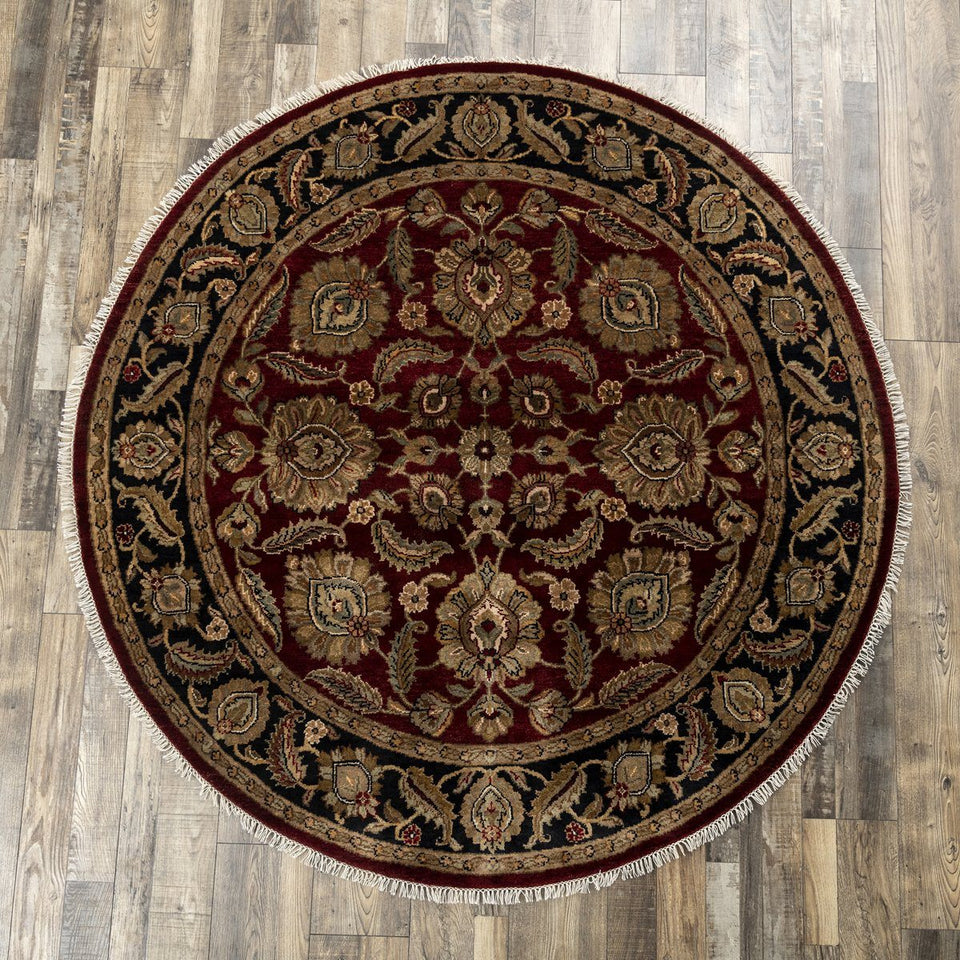 Luxury - Sequoia Red Black New Zealand Wool Hand Knotted Premium Carpet