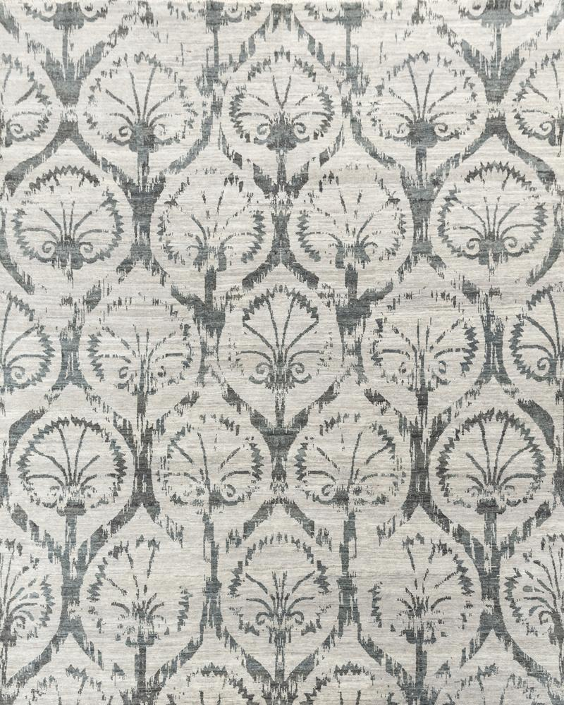 Luxury - Sinclaire Grey New Zealand Wool Hand Knotted Premium Carpet