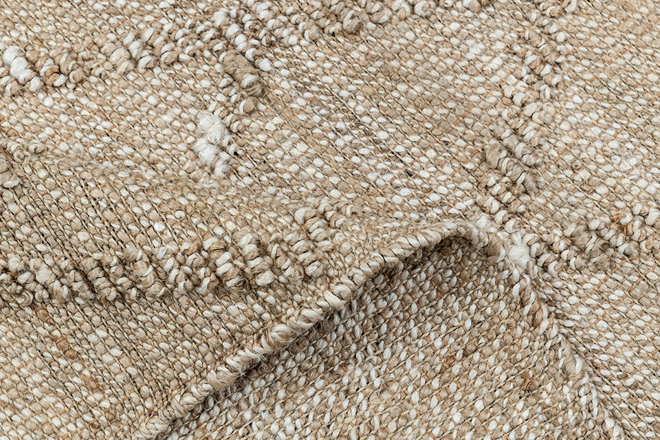 Normad Natural Multy Shuttle Weave Dhurrie
