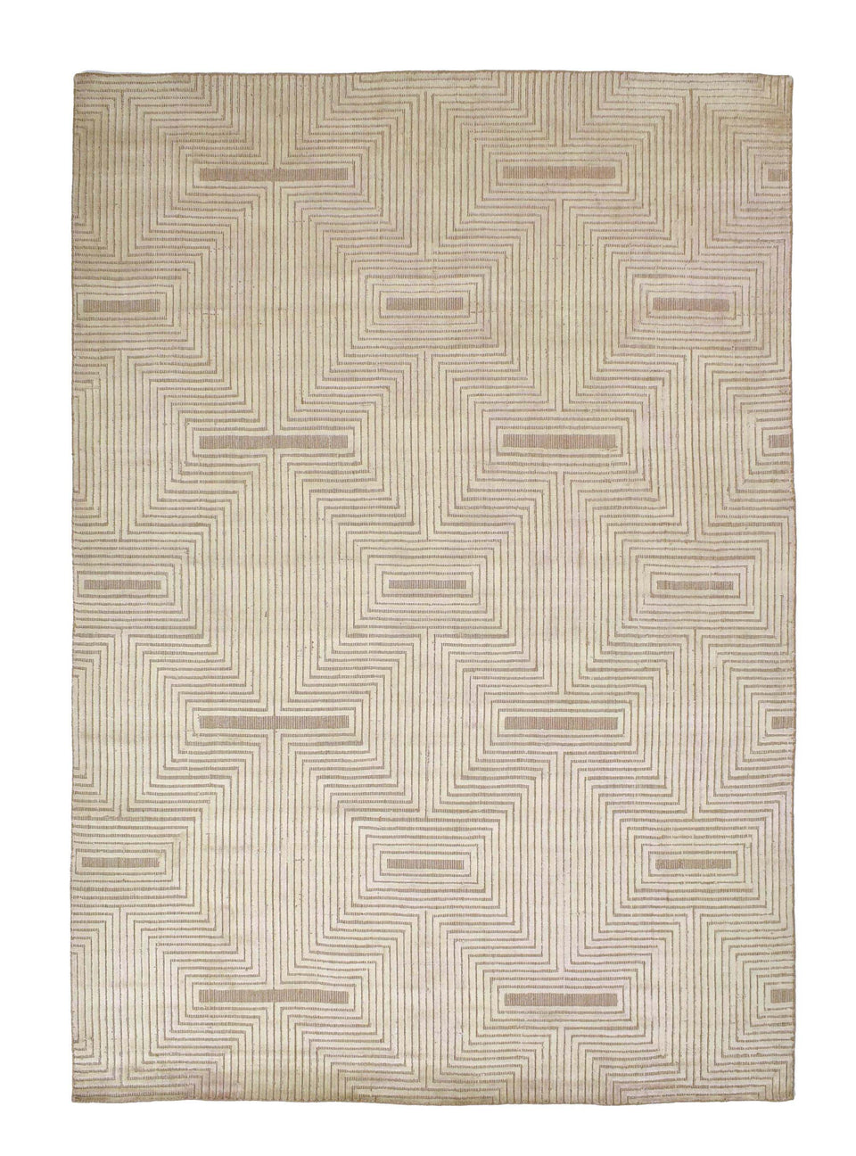 Ariana Wool & Viscose Handloom Jacquard Carpet 7.5 x 5