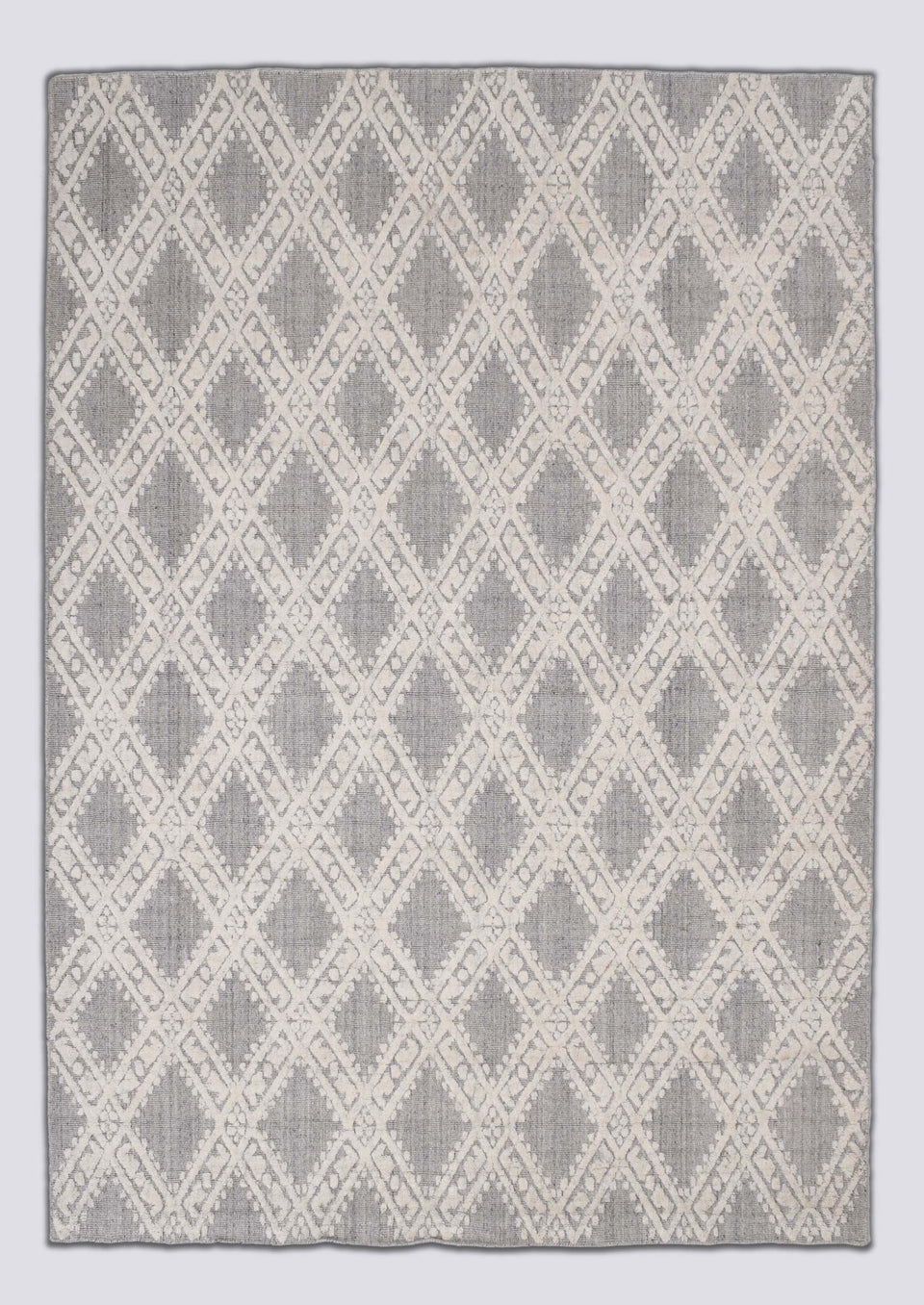 Stilo-Natural Wool & Wool Viscose Mix Handloom Jacquard Carpet 7.5 x 5