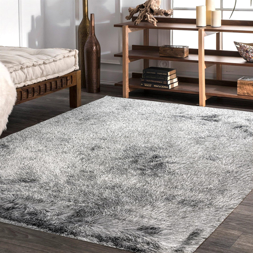 Paradise Charcoal Table Tufted Carpet with Latex Backing