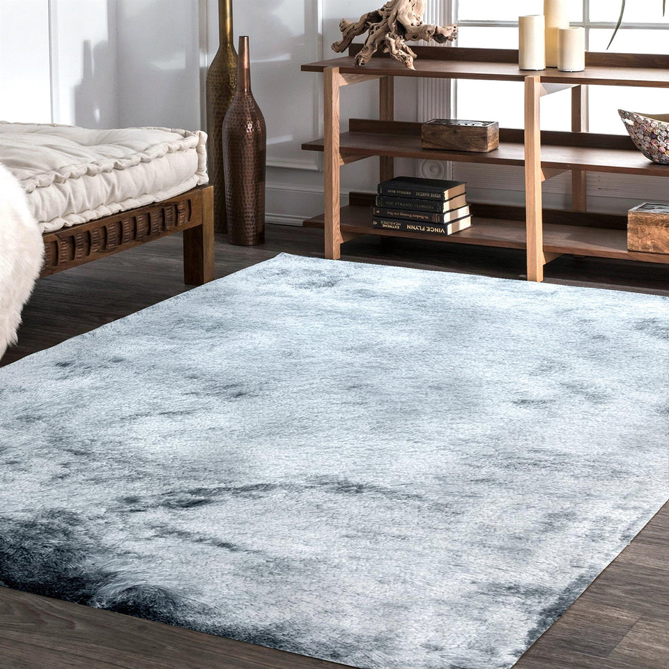 Paradise Night Blue Table Tufted Carpet with Latex Backing