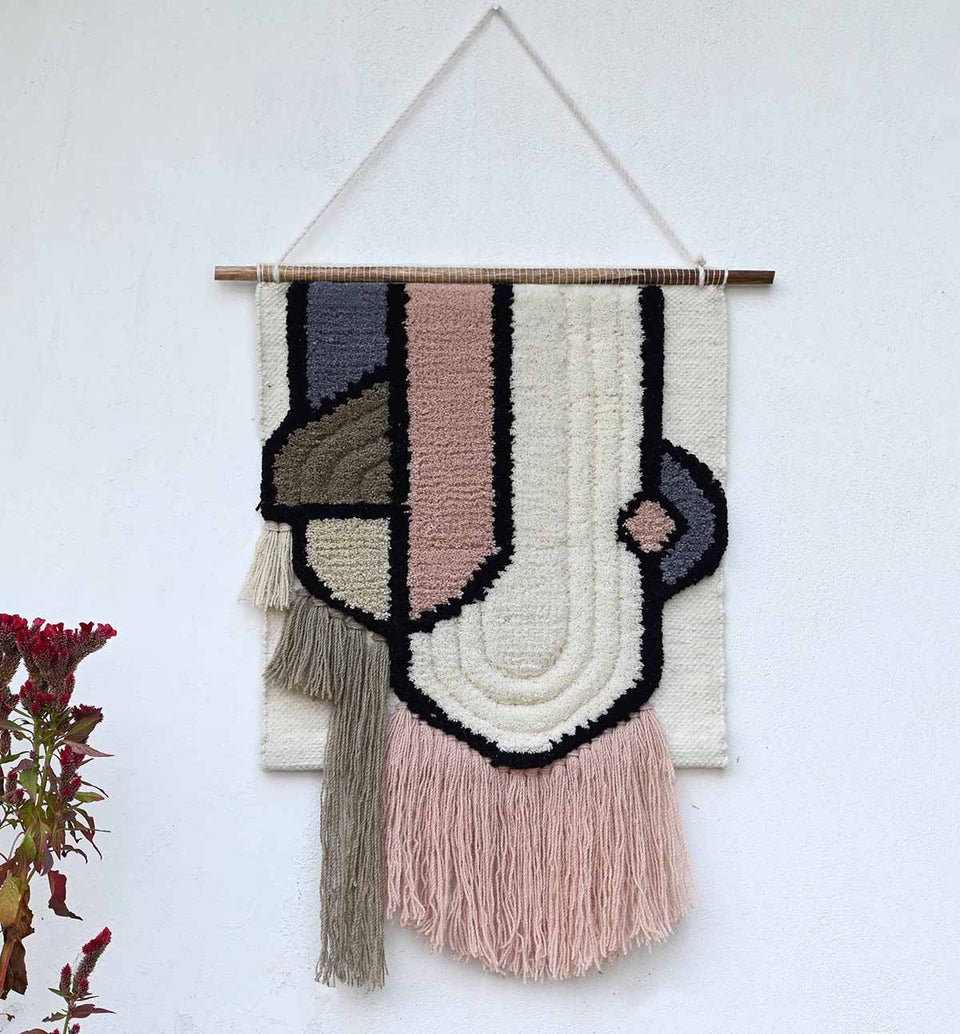Glam blended wool wall hanging