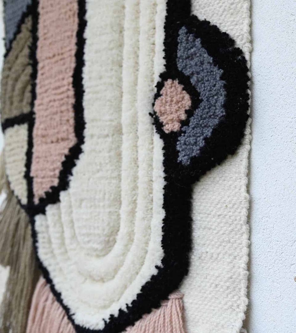 Glam Blended Wool Handwoven Wall Hanging Art