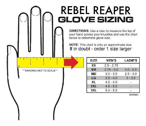 Black Genuine Leather Gloves - Rebel Reaper Clothing Company