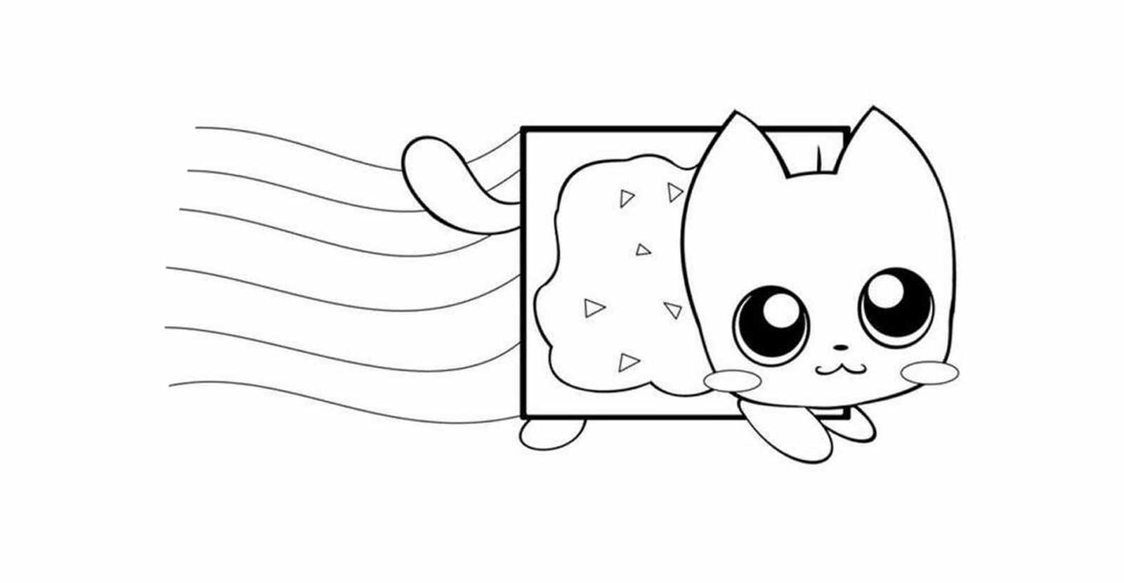chat coloriage