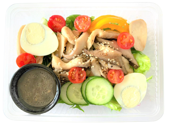 Two Kinds Of Mushrooms With Seasonal Vegetables And Japanese-Style Dressing