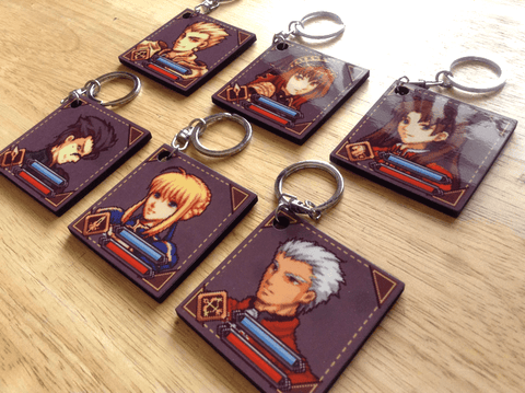 Fate wood keychain