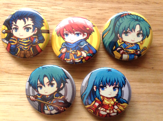 Fire Emblem Button pins
