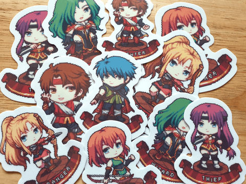 RPG Class Stickers