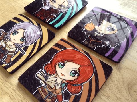 Witcher 3 Mug Coasters (Geralt, Yennefer, Ciri, Triss)