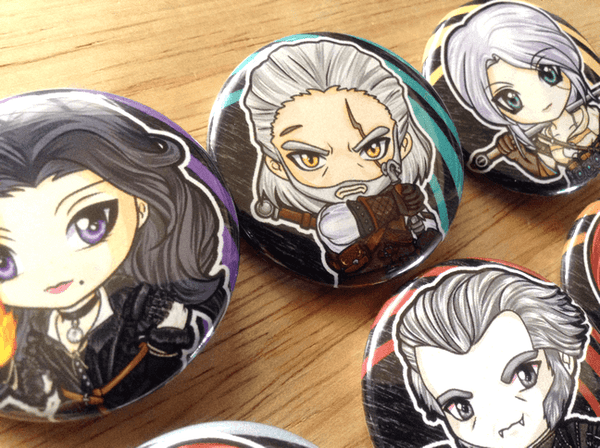 Witcher 3 Button pins
