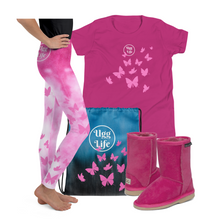 Load image into Gallery viewer, Butterfly Pink Youth Leggings