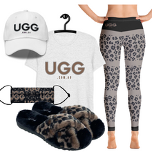 Load image into Gallery viewer, Leopard Print on Black Leggings
