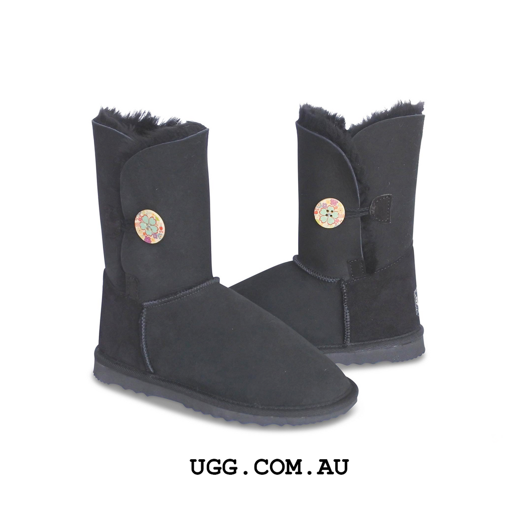 Bella Button Floral Ugg Boots