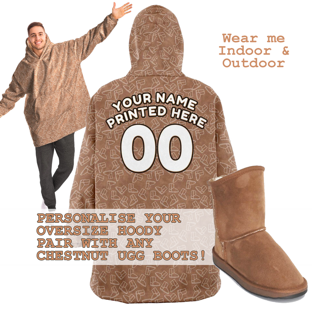 Chestnut Ugg Boot Snugg Oversize Hoodie