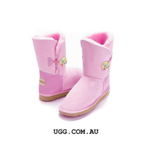 Load image into Gallery viewer, Bella Button Floral Ugg Boots
