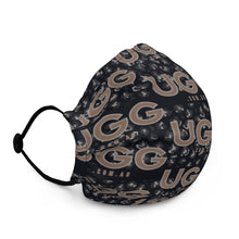 Load image into Gallery viewer, Ugg.com.au Leopard on Black Premium face mask