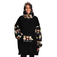 Load image into Gallery viewer, Peace Coffee Love Oversize Sn-ugg Hoodie - FREE SHIPPING
