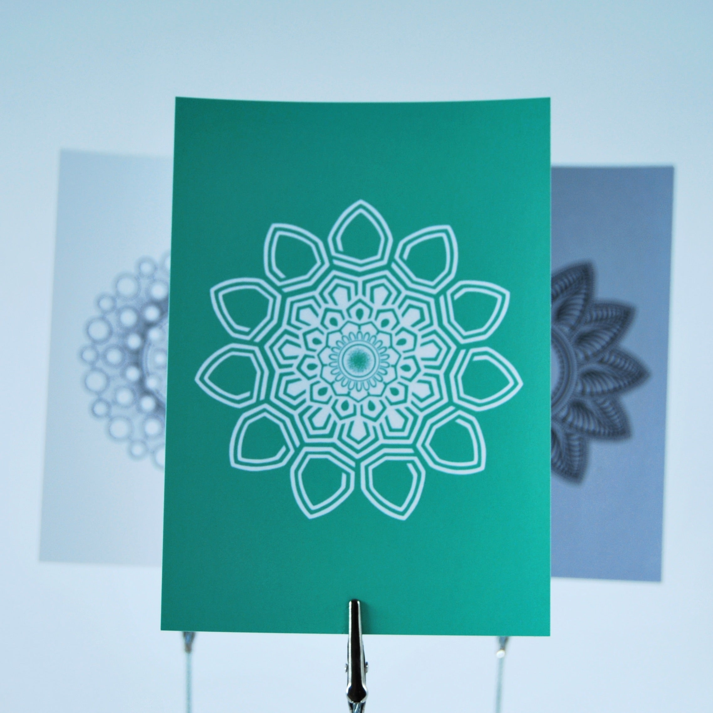 Mandala cards 9 pcs