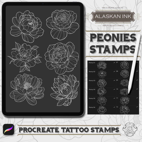 Floral Procreate Tattoo Pack for iPad by Alaskan ink studio