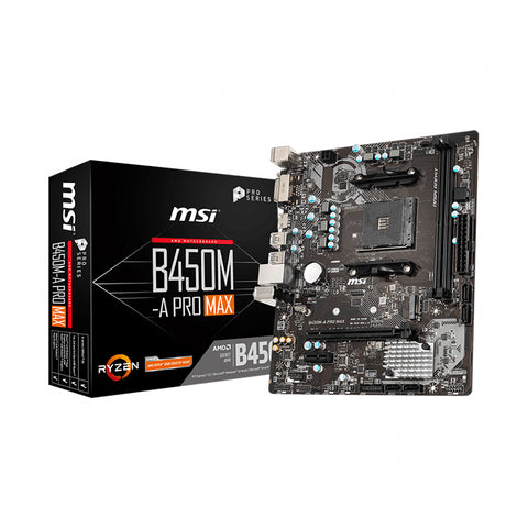 MSI B450 b450M A PRO MAX AM4 Computer Motherboard Supports for 3700x 3600x 3600 2600 CPU AMD b450