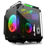200mm RGB fans sided transparent tempered glass PC computer gaming Case (Black King Kong)