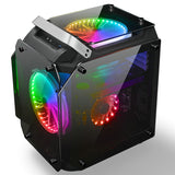 200mm RGB fans sided transparent tempered glass PC computer gaming Case