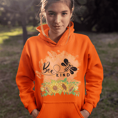 Bee Kind Sunflowers Apparel Apparel TeeInBlue