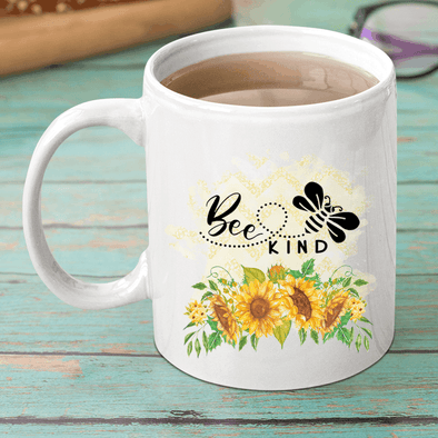 Bee Kind Sunflowers copy Mug TeeInBlue