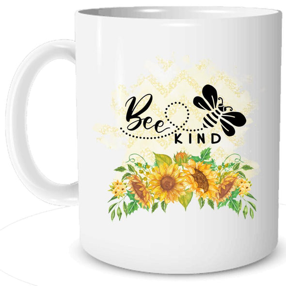Bee Kind Sunflowers copy Mug TeeInBlue MUG white 11oz