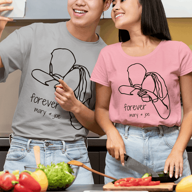Couples Line Art Apparel Apparel TeeInBlue