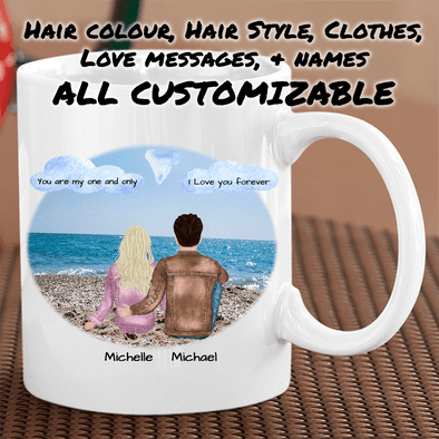 Couples Personalized Mug Couples Mug TeeInBlue