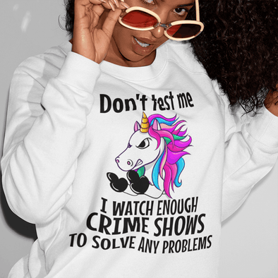 Don't Test me Unicorn Apparel Apparel TeeInBlue